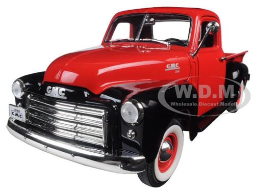 1950 gmc pickup truck red black 1 18 diecast model car road signature 92648. Black Bedroom Furniture Sets. Home Design Ideas