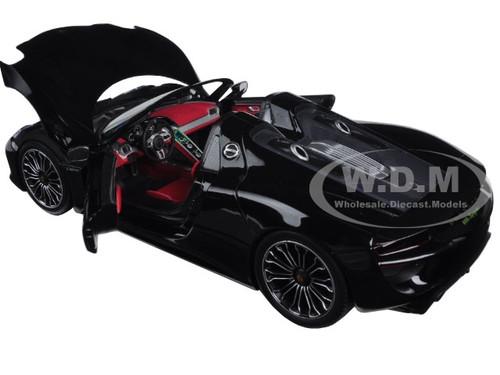 2013 porsche 918 spyder metallic black limited edition to 504pcs 1 18 diecast. Black Bedroom Furniture Sets. Home Design Ideas