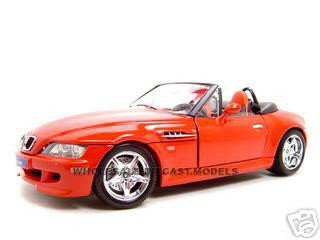 BMW Z3 M Roadster Red 1/18 Diecast Model Car Bburago 12028
