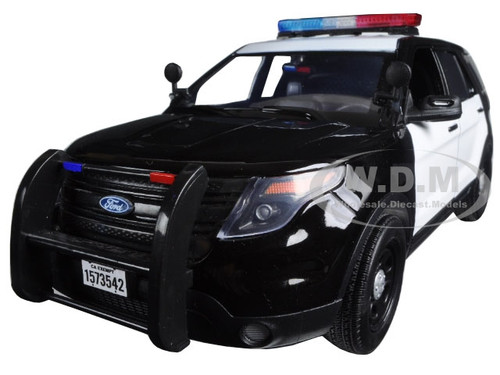 2015 Ford PI Utility Interceptor Black u0026 White Police Car with Light Bar 1/18 Diecast Car ...  sc 1 st  Diecast Models Wholesale & Ford PI Utility Interceptor Black u0026 White Police Car with Light ... markmcfarlin.com
