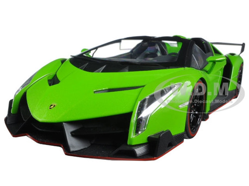 LAMBORGHINI VENENO ROADSTER GREEN WITH RED LINE 1/18 ...