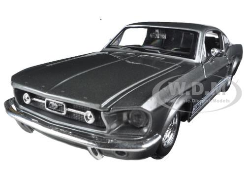 1967 ford mustang gt grey 124 diecast model car maisto 31260