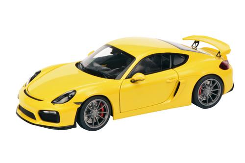 Porsche Cayman GT4 Racing Yellow 1/18 Diecast Model Car Schuco 450040000