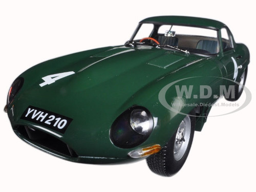 Jaguar Lightweight E-Type Sutcliffe YVH210 #4 Green 1/18 Diecast Model Car Paragon 98342