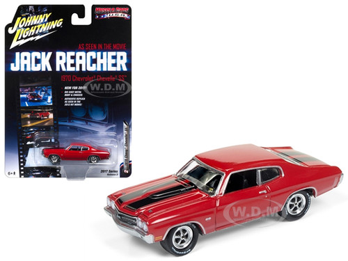 "1970 Chevrolet Chevelle SS ""Jack Reacher"" Movie 1/64 Diecast Model Car Johnny Lightning JLCP6002"