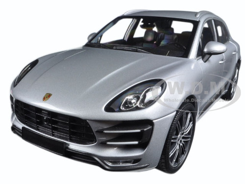 2013 Porsche Macan Turbo Silver Limited Edition to 504pcs 1/18 Diecast Model Car Minichamps 110062504