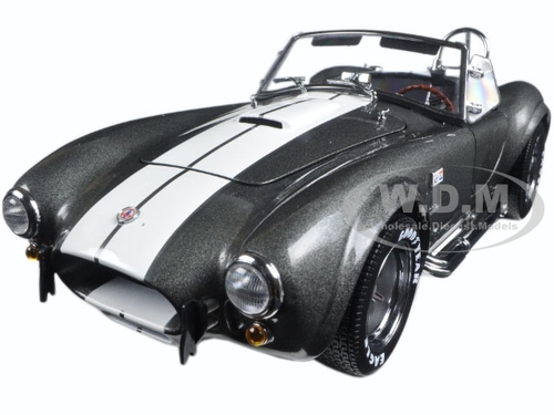 Shelby Cobra 427 S/C Grey with White Stripes 1/18 Diecast Car Model Kyosho 08045 GW