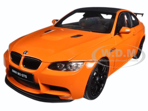 BMW M3 GTS (E92) Fire Orange with Black Roof 1/18 Diecast Model Car Kyosho 08739 PO