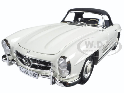 1957 Mercedes 300 SL W198 White 1/18 Diecast Model Car Minichamps 180039034