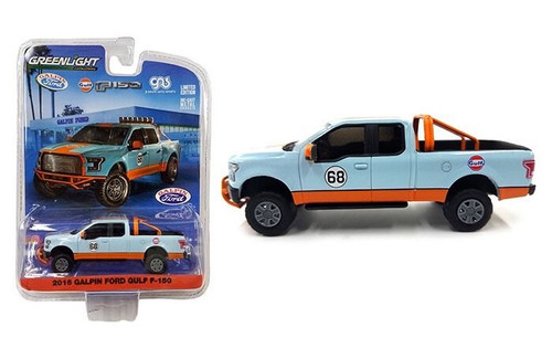 2016 Galpin Ford F-150 Gulf Pickup Truck 1/64 Diecast Model Car by Greenlight  51088