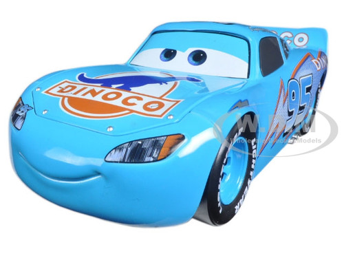 "Disney Pixar ""Cars"" Movie Dinoco Lightning McQueen Diecast Model Car Jada 98100"