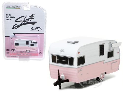 Shasta 15ft Airflyte Trailer Pink 1/64 Diecast Model Greenlight 29877