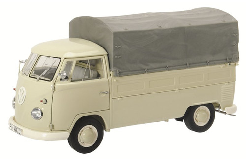 Volkswagen T1B Pickup with Tarpaulin Beige 1/18 Diecast Model Car Schuco 450037000