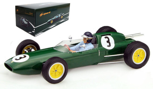 Lotus 24 #3 Winner Lombank Trophy Snetterton 1962 Jim Clark 1/18 Model Car Spark 18S230