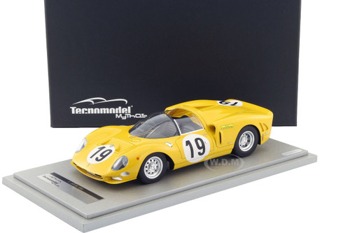 Ferrari 365 P2 Car #19 Team Ecurie Francorchamps Test Le Mans 1966 Driver Jean Beaurly's/ Leon Dernier/ Jacky Ickx Limited Edition to 100pcs 1/18 Model Car Technomodel TM18-20G