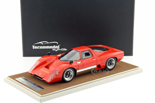 1969 McLaren M6 GT Rosso Corsa Red Limited Edition to 60pcs 1/18 Model Car Technomodel TM18-40B