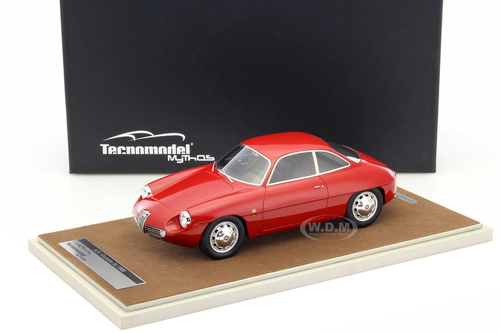 1960 Alfa Romeo Giulietta SZ Street Alfa Red Limited Edition to 100pcs 1/18 Model Car Technomodel TM18-42A