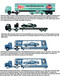 Auto Haulers Release 23, 3 Trucks Set 1/64 Diecast Models M2 Machines 36000-23