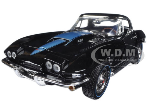 1967 Chevrolet Corvette 427 Tuxedo Black (MCACN) Limited Edition 1/18 Diecast Model Car Autoworld AMM1099