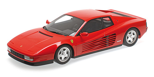 Ferrari Testarossa Red with Black Interior 1/12 Model Car by GT Spirit Kyosho KSR08663R