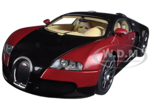 bugatti eb veyron 16 4 1st production car black and red limited 1 18 diecast model car autoart 70909. Black Bedroom Furniture Sets. Home Design Ideas