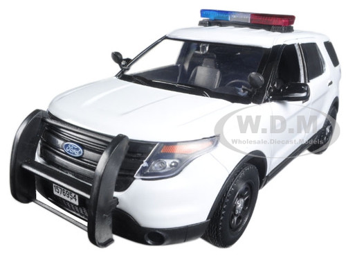 Brand new 124 scale diecast model car of 2015 Ford Police Interceptor Utility White with Flashing Light Bar Front and Rear Lights and 2 Sounds die cast ...  sc 1 st  Diecast Models Wholesale & Ford Police Interceptor Utility White with Light Bar and Sound 1 ... markmcfarlin.com