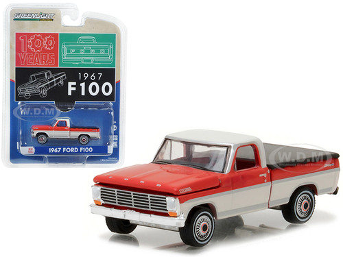 ford f-100 pickup truck with bed cover 1/64 diecast model car