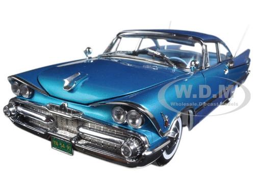 1959 Dodge Custom Royal Lancer Hard Top Star Sapphire/ Frosted Turquoise Platinum Edition 1/18 Diecast Model Car Sunstar 5491