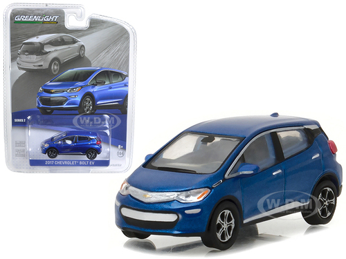 2017 Chevrolet Bolt EV Kinetic Blue Metallic 1/64 Diecast Model Car Greenlight 27875 D