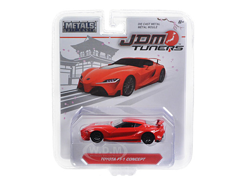 """Toyota FT-1 Concept Red """"JDM Tuners"""" 1/64 Diecast Model Car Jada 14036"""