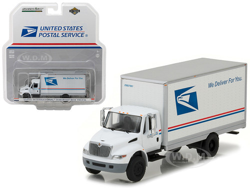 2013 International Durastar Box Truck United States Postal Service (USPS) HD Trucks Series 9 1/64 Diecast Model Greenlight 33090 B