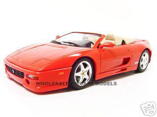 Ferrari F355 Spider Red 1/18 Diecast Model Car Hotwheels 25733r