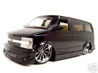 Chevrolet Astro Van Black Diecast Model 1/18 Diecast Model Car Jada 63122