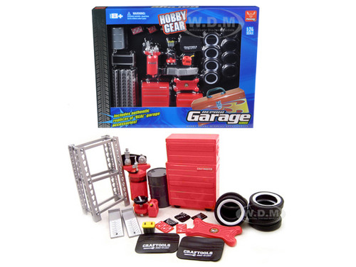 Garage Accessories Set For 1/24 Scale Diecast Models Unique Replicas 18420