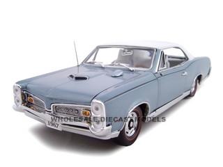 1967 Pontiac GTO Blue Hard Top 1/24 Diecast Car Model Unique Replicas 18661