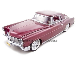 1956 Lincoln Continental Mark 2 Burgundy 1/18 Diecast Model Car Road Signature 20078