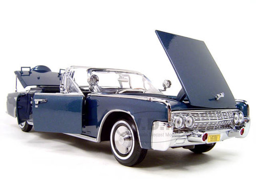 1961 LINCOLN X-100 KENNEDY LIMOUSINE BLUE WITH FLAGS 1/24 ...