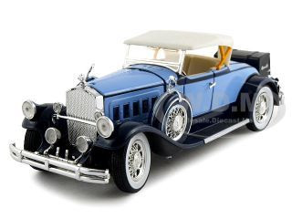 1930 Pierce Arrow Model B Blue 1/32 Diecast Car Model Signature Models 32329