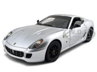 Ferrari 599 GTB Fiorano Elite Edition Silver 1/18 Diecast Model Car Hotwheels N2066