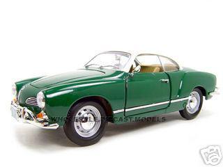 1966 Volkswagen Karmann Ghia Green 1/18 Diecast Model Car Road Signature 92198