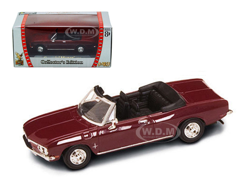1969 Chevrolet Corvair Monza Burgundy 1/43 Diecast Model Car Road Signature 94241