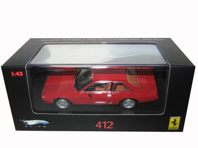 Ferrari 412 Red Limited Edition Elite 1/43 Diecast Model Car Hotwheels N5595