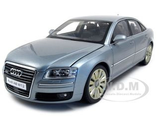 Audi A8 W12 Silver Gray 1/18 Diecast Model Car Kyosho 09212