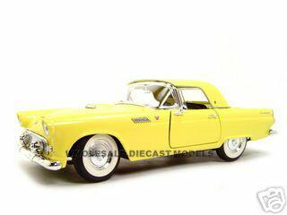 1955 Ford Thunderbird Yellow 1/18 Diecast Model Car Road Signature 92068  sc 1 st  Diecast Models Wholesale & Ford Thunderbird Yellow 1/18 Diecast Model Car Road Signature 92068 markmcfarlin.com