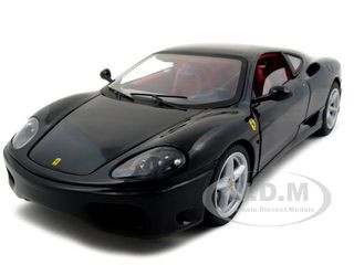 Ferrari 360 Modena Black Elite Edition 1/18 Diecast Model Car Hotwheels N2052