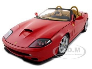 Ferrari 550 Barchetta Pininfarina Red Elite Edition 1/18 Diecast Model Car Hotwheels N2054