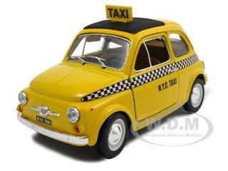 fiat 500 taxi cab 1 24 diecast model car bburago 22105. Black Bedroom Furniture Sets. Home Design Ideas