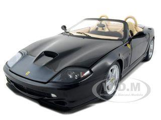 Ferrari 550 Barchetta Pininfarina Black Elite Edition 1/18 Diecast Model Car Hotwheels N2055