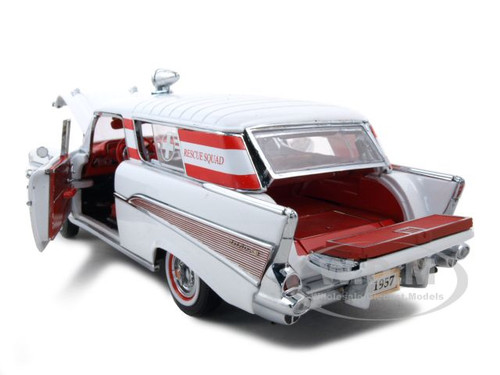 1957 CHEVROLET BEL AIR AMBULANCE 1:24 DIECAST MODEL CAR BY ...