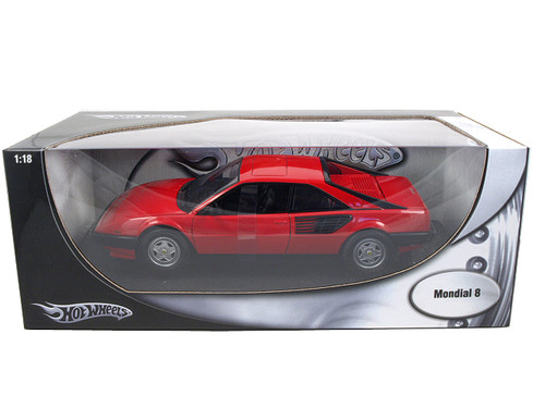 ferrari mondial 8 red 1 18 diecast model car by hotwheels p9882 ebay. Black Bedroom Furniture Sets. Home Design Ideas